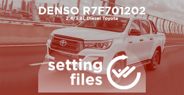 Second generation setting files for DENSO R7F701202 (L4 diesel 2.4/2.8L)